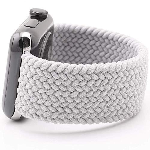 Adecuado para apple watch 1/2/3/4/5/6 correa de reloj elástica trenzada de nailon correa de reloj iwatch 38/40 mm correa de repuesto unisex