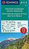 KOMPASS Wanderkarte Naturpark Texelgruppe, Meraner Höhenweg, Parco Naturale Gruppo di Tessa, Alta Via di Merano: 3in1 Wanderkarte 1:25000 mit Aktiv ... in der KOMPASS-App. Fahrradfahren. Skitouren.