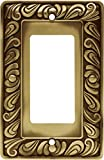 Franklin Brass 64047 Paisley Single Decorator Wall Plate/Switch Plate/Cover, Tumbled Antique Brass