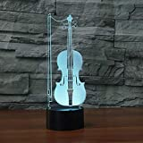 3D Luz Nocturna Led LED Luz nocturna Violonchelo Gift Darling In...