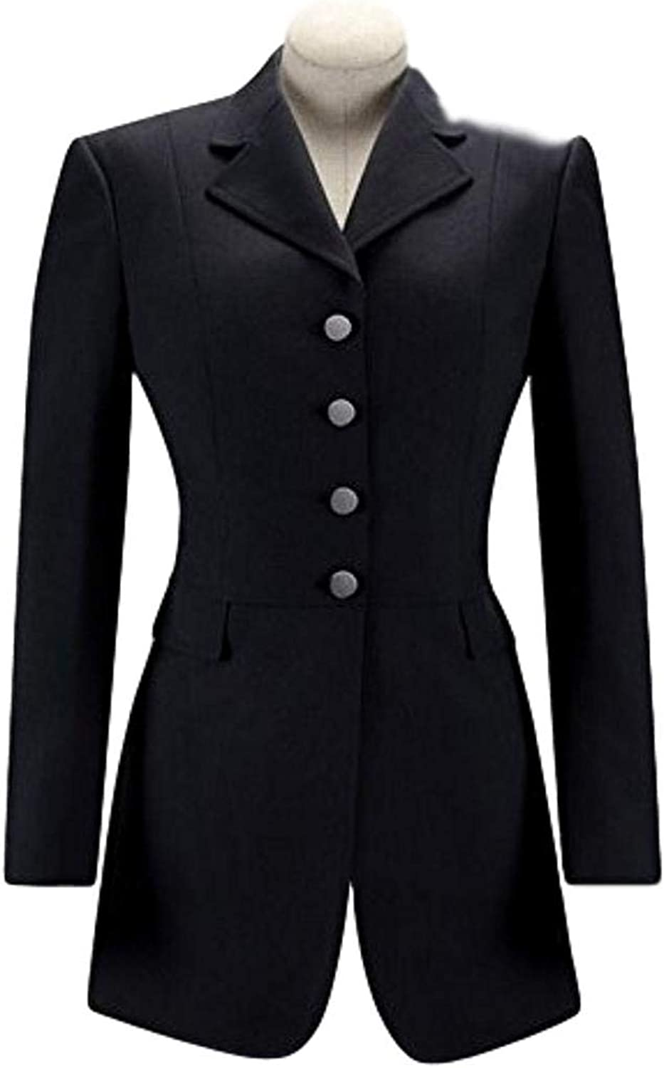 RJ Classics Essential Dressage Frock Coat  Black  Size 8 Short