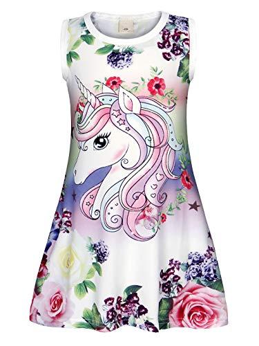 Jurebecia Unicornio Camisones Pijama Vestidos camisón para niñas 9-10 años