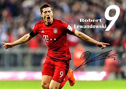 Robert Lewandowski #2 Unterzeichnet Motivation Politur Fußballspieler Foto Court Aufdruck Sport Inspiration FC Bayern München Bild Bestimmung Schlafzimmer Grafik Wand Dekoration Nachdruck