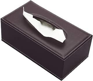 Voidea ティッシュケース おしゃれ ティッシュボックス 高級ティッシュカバー ティッシュボックスケース ティッシュケース・ホルダー 合皮製 高級 豪華 北欧 車 マグネット (ブラウン)