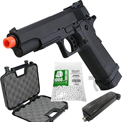 HI-CAPA 5.1 Green Gas Airsoft Pistol Free Speed Loader BBS and Gun Case [Airsoft Blowback]