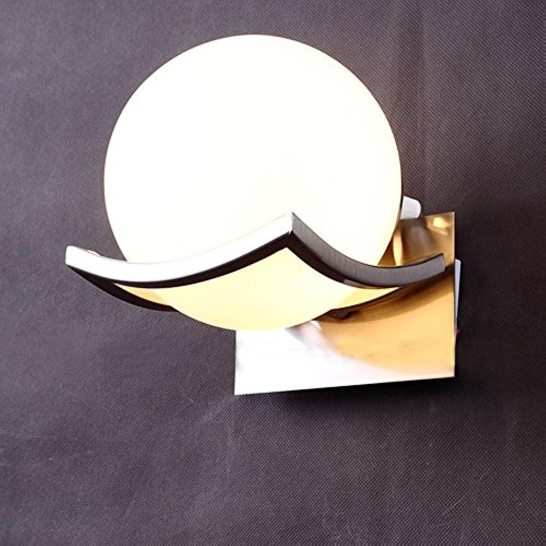 5151BuyWorld Schne Kugel-Form-Wand-Lampen-Befestigungs-Metall-Glas-Leuchter Schlafzimmer Nachtlicht Scone Dia15CM E14 [Schwarz]