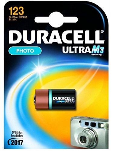 Duracell DUR123106 Batterie Lithium-ION 3 V CR123A avec Cylindre CR123A