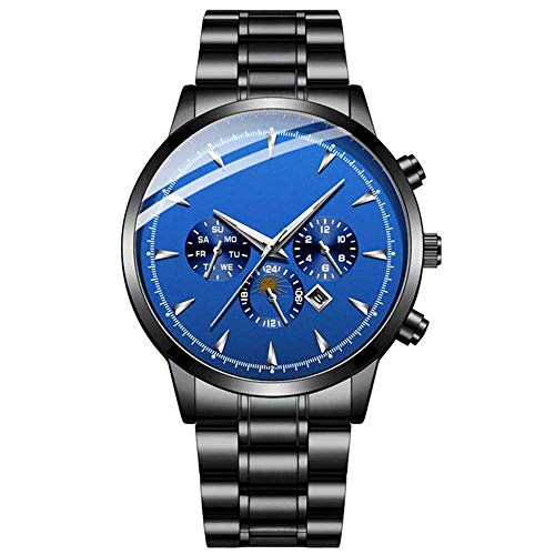 Hongxiguan Business herenhorloge mode casual heren roestvrij stalen horloges waterdicht kwartshorloge
