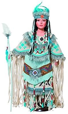 "Golden Keepsakes Collectible Heirloom Native American 28"" Porcelain Doll Talisa"