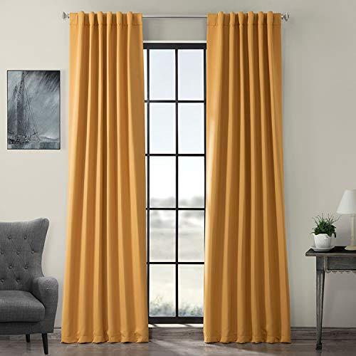 Half Price Drapes BOCH-201303-84 Blackout Curtain, Marigold