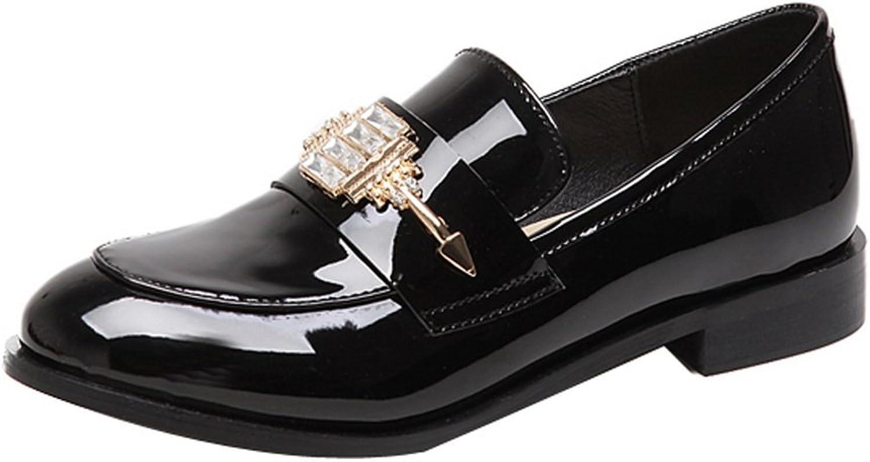 Ladola Womens Firm-Ground Rhinestones Metal Solid Urethane Pumps shoes