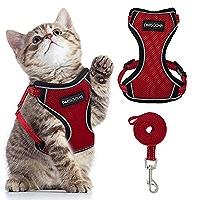 Arn/és de Malla Suave para Chaleco Azul,M Correa Ajustable para Caminar en el Pecho para Mascotas Chaqueta para Caminar para Gatos para Gato DMFSHI Arn/és para Gatos y Correa