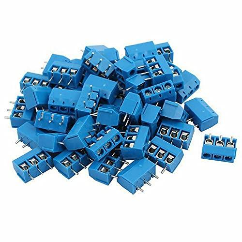 5.08MM compatto leggero e durevole 100PCS 3 Pin Plug-in PCB Vite Morsettiera Connettore KF301-3P