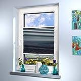 Sun World - Estor plisado a medida, alta calidad, para ventanas y puertas, todos los tamaños, fabricado a medida, color gris plateado, altura: 131 – 140 cm, ancho: 121 – 130 cm