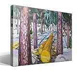 Cuadro Canvas El Registro de Color Amarillo de Edvard Munch