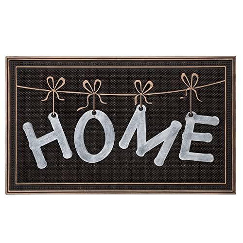 H HANSEL HOME Felpudo para Puerta Entrada Goma Antideslizante Negro 75x45x1 cm - Home Rope