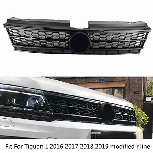 NTUOO Auto Front KüHlergrille, für Tiguan L 2016 2017 2018 2019 Obere StoßStange Radiator Grille Center Honeycomb Mesh Grid Grill Verkleidung, Car Styling ZubehöR