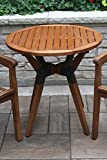 Outdoor Interiors 30' Eucalyptus & Metal Bistro Table