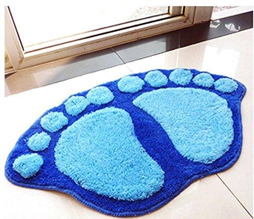 Fendii - Adorable alfombra, alfombrilla, azul para habitación, tapete para baño de...
