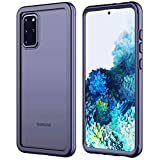 RedPepper Designed for Samsung Galaxy S20 Plus Case, Matte Clear Rugged Heavy Duty Armor Cover Without Built-in Screen Protector Shockproof Case for Samsung Galaxy S20 Plus 5G 6.7 inch (Black)