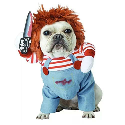 TVMALL - Disfraz de Mascota para Perros pequeños, Disfraz de Halloween, Disfraz de Perro pequeño, Disfraz de Navidad (S)