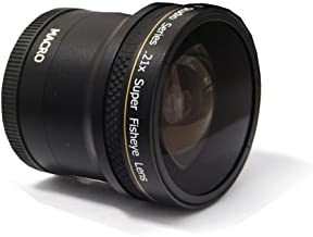 PLR Studio Series .21x Super Fisheye Lens With Macro Attachment For The Canon Digital EOS Rebel SL1 (100D), T5i (700D), T5, T4i (650D), T3 (1100D), T3i (600D), T1i (500D), T2i (550D), XSI (450D), XS (1000D), XTI (400D), XT (350D), 1D C, 70D, 60D, 60Da, 50D, 40D, 30D, 20D, 10D, 5D, 1D X, 1D, 5D Mark 2, 5D Mark 3, 7D, 7D Mark 2, 6D Digital SLR Cameras Which Has Any Of These (18-55mm, 75-300mm, 50mm 1.4 , 55-200) Canon Lenses