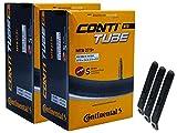 pneugo! Continental - Juego de 2 cámaras de aire para bicicleta (27,5 pulgadas, 65-70/584 S42 MTB 27,5 Plus, incluye 3 desmontadores de neumáticos)