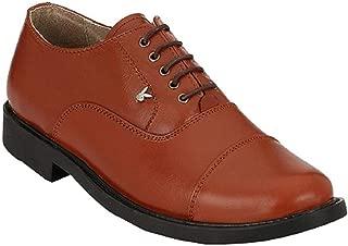 Playboy PB 2503 Leather Police Shoe Stylelish for Men's-10 Tan