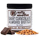 Nutty Novelties Dark Chocolate Almond Butter - High Protein, Sweet Almond Butter - All-Natural, Dark Chocolate Almond Butter Free of Cholesterol & Preservatives - Vegan Almond Butter - 8 Ounces