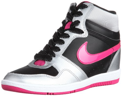 Nike, Stivaletti Donna, Nero (Negro (Black/Vivid Pink)), 38.5 EU