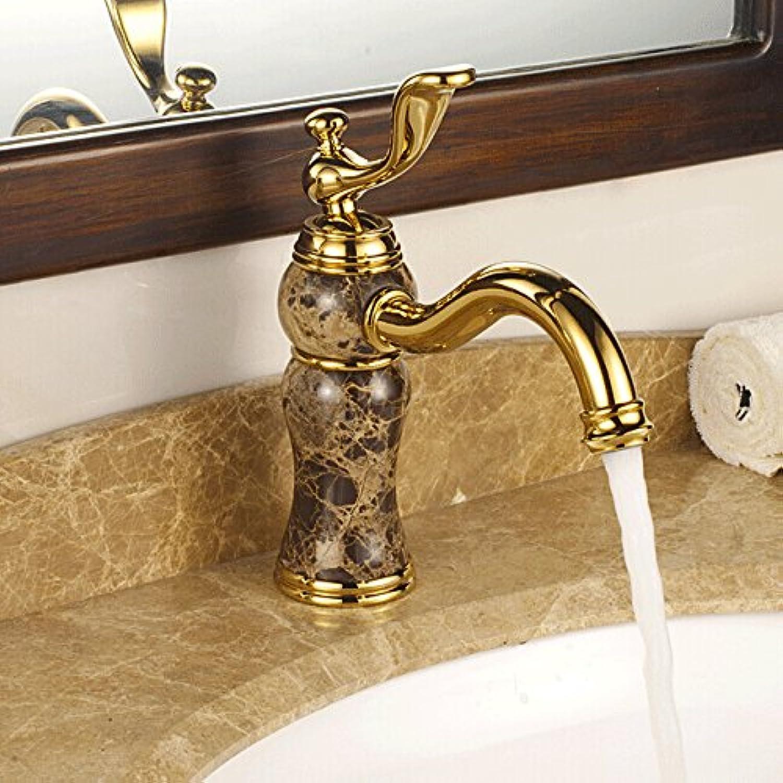 Gyps Faucet Waschtisch-Einhebelmischer Waschtischarmatur BadarmaturDas Kupfer Gold Hahn Marmorbecken Mischbatterien jade Antike Titan,Mischbatterie Waschbecken