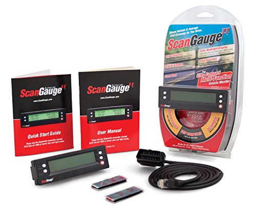 ScanGauge - SG2 II Ultra Compact 3-in-1 Automotive Computer with Customizable Real-Time Fuel Economy Digital Gauges , Black , 5 Inch