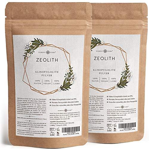 Zeolith Pulver von'Nordic Pure' | 500-1000g mit 95% Klinoptilolith Anteil | Premium Qualität |...