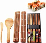 Fu Store Sushi Making Kit Set 9 PCS-Sushi Rolling Mats Rice Paddle Rice Spreader...