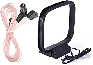 Yuema 75 Ohm FM Dipole Antenna FM Antenna and AM Loop Antenna Compatible with Indoor Radio Bluetooth Stereo Receiver AV Audio Video Home Theater Receiver Power Amplifier