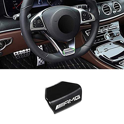 Oritech para Mercedes-Benz A B C E Clase GLA CLA GLC GLE GLS W213 W205 x253 Aleación de Zinc Volante Emblema Decoración Calcomanía Etiqueta Insignia Decoración AMG Logo (Volante Deportivo Cuadrado)