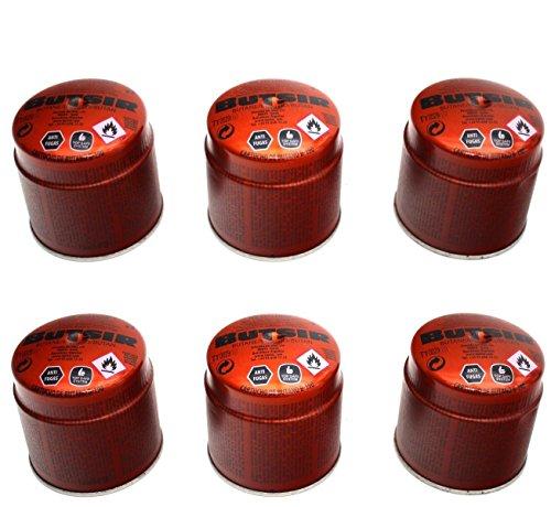 6 Cartucho Gas BUTSIR 190 GRS. Valvula CARB0005 – bombona perforable con limitador de Fugas – Botella Camping Gas Envio 24Horas