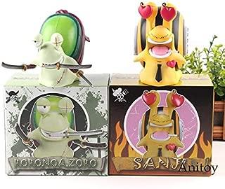 Scallion Den Den Mushi Roronoa Zoro and Vinsmoke Sanji Figure PVC Zoro Action Figure Anime Collection Model Toy 2Pcs/Set Toddler Must Haves Gift Basket The Favourite Superhero Cupcake Toppers