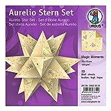 Aurelio Star Night Lot de 33 feuilles de papier créatif double face Motif étoiles...