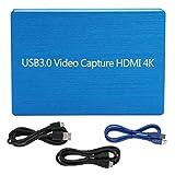 Mxzzand Tarjeta de adquisición de Video Profesional Mano de Obra Fina Tarjeta de Captura Liviana USB 3.0 para transmisión en Vivo de Juegos/Video