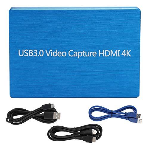 Agatige 4Kx2K HDMI a USB3.0 Tarjeta de Captura de Video Grabadora HD Tarjeta de Captura de Juegos Video para Juegos/Video Transmisión en Vivo