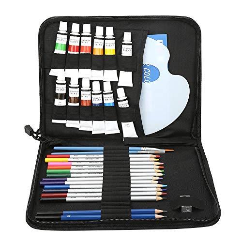 Acrylverf set, kunstverf set met 12 kleurpigmenten 12-delig. Kleurpotloden, schetsen, tekenen, potloden, aquarel, acrylverf, set voor kunstenaars, schilders, kinderen, canvas hobby knutselen