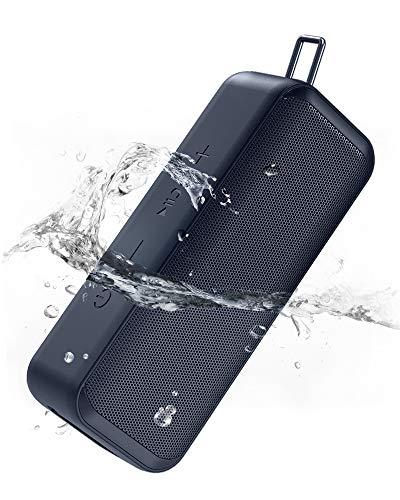 AUKEY Bluetooth Lautsprecher, Kabelloser Lautsprecher mit TWS Stereosound, 28h Akku, IP67 Wasserdicht und Staubfest für zu Hause, Outdoor und Reisen