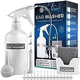 Medi Grade Kit Limpiador de Oídos - Sistema de Jeringa Oídos para Eliminar Cera con 16 en 1 - Bomba Limpia Oídos Segura - Cera Oidos Limpiador Eco-Friendly - Quitar Tapones Oidos