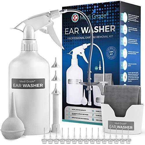 Ear Wax Remover [25pc] Ear Cleaner Kit by Medi Grade – Ear Irrigation Kit...