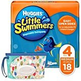 Huggies Little Swimmers Disposable Swim Diapers, Swimpants, Size 4 Medium (24-34 Pound), 18 Count,...