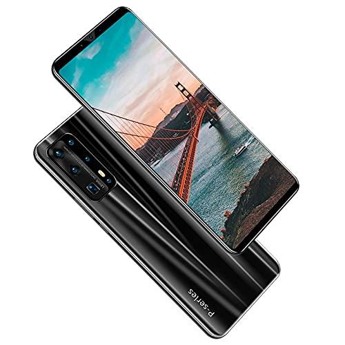 Ymxcwer85851 P43 Pro 5.8 Pulgadas de Alta definición, Pantalla Completa, teléfono Inteligente 4G + 64G, reconocimiento de Huellas Dactilares, teléfono móvil Dual Sim (Negro) EU