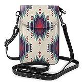 Lsjuee Color estilo étnico bolso cruzado para teléfono pequeño Mini bolso de hombro bolso para teléfono celular billetera de cuero para mujeres y niñas
