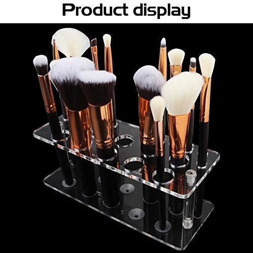 G-lucky Support De Support De Séchage De Brosse De Maquillage Présentoir De Brosse De Maquillage 20 Trous Contribution