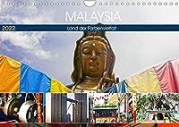 Malaysia - Land der Farbenvielfalt (Wandkalender 2022 DIN A4 quer): Eindrucksvolle und farbenfrohe Eindruecke eines besonderen asiatischen Landes. (Monatskalender, 14 Seiten )
